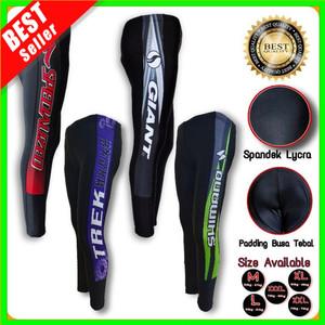 Harga celana sepeda panjang padding stretch busa pria wanita baselayer murah   kirim random   HARGALOKA.COM