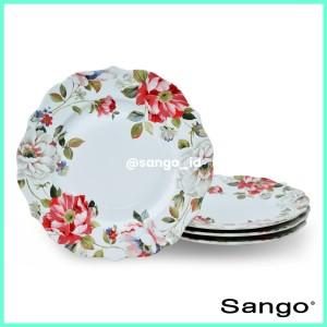 Harga sango piring makan oriana white set of   HARGALOKA.COM