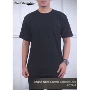 Harga kaos polos cotton combed 20s hitam   | HARGALOKA.COM