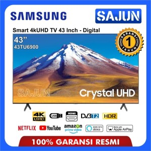Harga smart tv samsung 43tu6900 crystal uhd 4k tv led 43 inch | HARGALOKA.COM