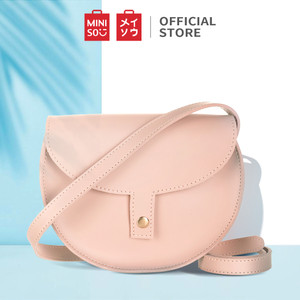 Harga miniso tas selempang wanita crossbody bag setengah lingkaran   merah | HARGALOKA.COM