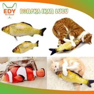 Harga boneka ikan mainan kucing anjing hewan peliharaan fish toy plush doll     HARGALOKA.COM