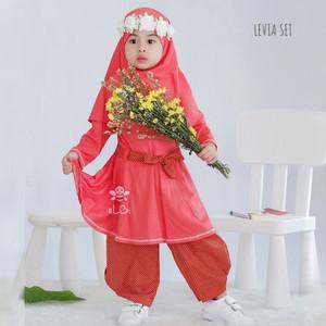 Harga baju anak perempuan   setelan baju muslim anak perempuan   levia set   1   2 tahun | HARGALOKA.COM