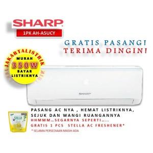 Harga bayar listrik murah 350watt ac sharp 1 2 pk ah a5ucy terpasang | HARGALOKA.COM