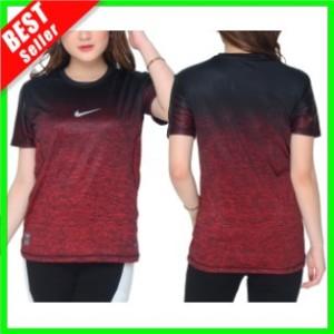 Harga new baju wanita running olahraga senam kaos fitness lari training gym   biru | HARGALOKA.COM
