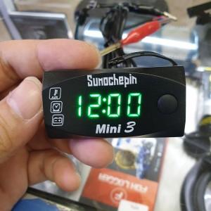 Harga volt meter jam thermometer digital mobil motor   HARGALOKA.COM
