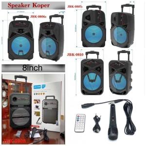 Harga speaker bluetooth model koper 8inch free mic kabel wireless | HARGALOKA.COM