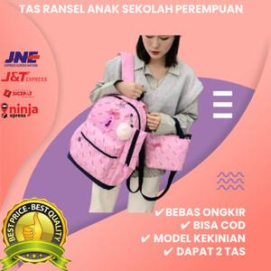 Harga tas anak 3in1 tas sekolah anak perempuan vjb tas ransel anak smiggle   merah | HARGALOKA.COM