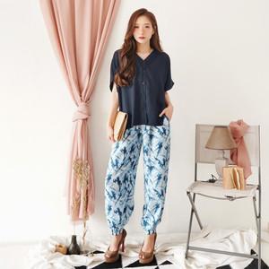 Harga setelan tie dye bahan rayon kancing hidup real picture celana joger   | HARGALOKA.COM