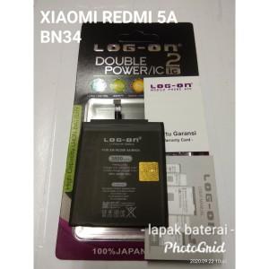 Harga batre baterai xiaomi redmi 5a bn34 double power log | HARGALOKA.COM