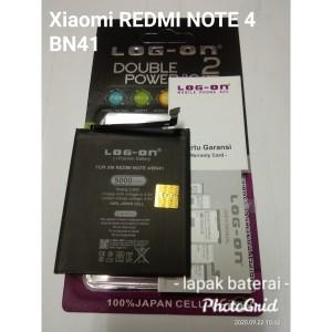 Harga batre baterai xiaomi redmi note 4 bn41 double power log | HARGALOKA.COM