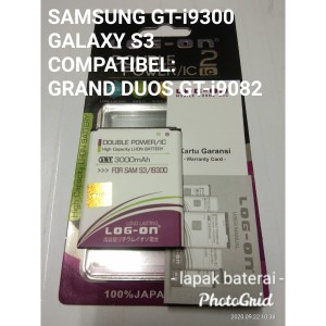 Harga baterai samsung galaxy s3   gt i9300   log on double power | HARGALOKA.COM