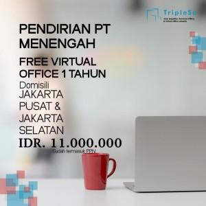 Harga jasa pembuatan pt menengah lengkap free virtual office 1 | HARGALOKA.COM