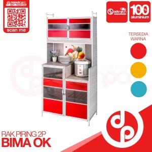 Harga lemari rak piring 2 pintu bima ok bina karya   free ongkir odenpan   | HARGALOKA.COM