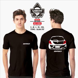 Harga kaos baju mobil all new honda brio rear kaos otomotif   | HARGALOKA.COM