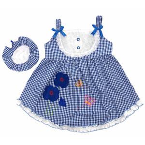 Harga baju dress bayi perempuan katun 6 12 bulan motif kotak gambar kembang   | HARGALOKA.COM