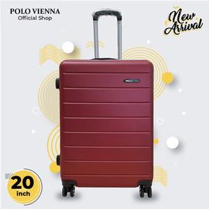 Harga koper bagasi murah polo viena model 001 20 inch abs fiber koper kabin   | HARGALOKA.COM
