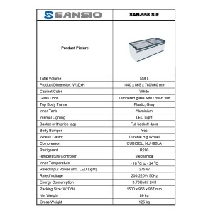 Harga sliding glassdoor freezer sansio san   HARGALOKA.COM