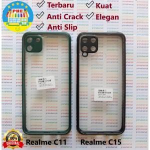 Harga realme c11   realme c15 anti slip anti crack hybrid clear back case   realme c11 | HARGALOKA.COM