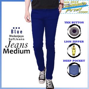 Harga gammaprod blue slim fit celana jeans pria medium   blue   HARGALOKA.COM