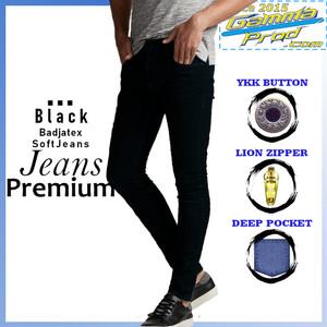 Harga celana soft jeans gammaprod slim fit pria ykk big   black   HARGALOKA.COM