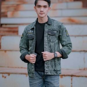 Harga jaket jeans army washing pria the bojiel | HARGALOKA.COM
