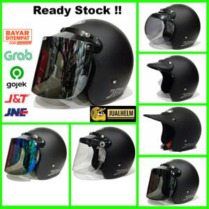 Harga helm retro bogo jpn retro arc original black hitam doff vespa   pet   HARGALOKA.COM