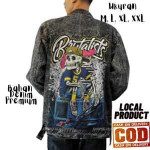 Harga jaket jeans denim pria levis sobek printing jeans wanita brts | HARGALOKA.COM