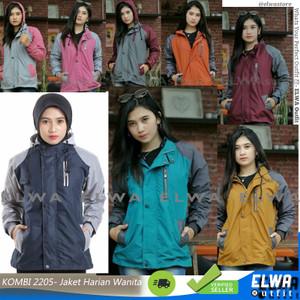 Harga new two tone 2205 jaket harian wanita jaket motor cewek original murah   dark yellow | HARGALOKA.COM