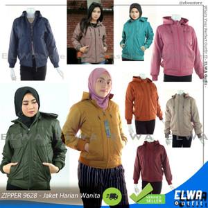 Harga new zipper 9628 jaket motor harian waterproof musim hujan wanita cewek   dark yellow | HARGALOKA.COM