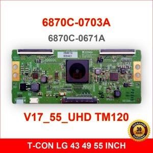 Harga t con lg 6870c 0703a   tcon tv lcd led 43 49 55 inch v17 55 uhd | HARGALOKA.COM