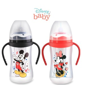 Harga disney baby botol susu wideneck bottle with handle 250ml   | HARGALOKA.COM