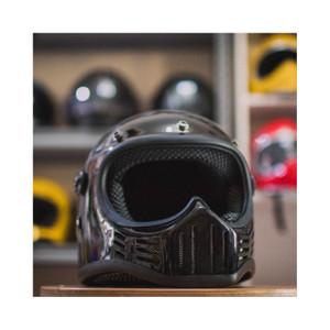 Harga M30 Hitam Outer Visor Full Face Retro Helmet Katalog.or.id
