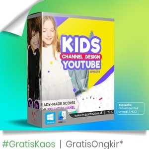 Harga template video after effect   kids channel youtube | HARGALOKA.COM