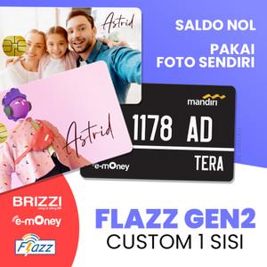 Harga 1 sisi kartu flazz bca saldo 0 custom foto design gambar   HARGALOKA.COM