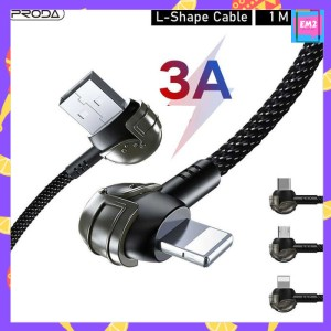 Harga kabel charger data remax proda braided l shape 1m model helm pubg   hitam micro | HARGALOKA.COM