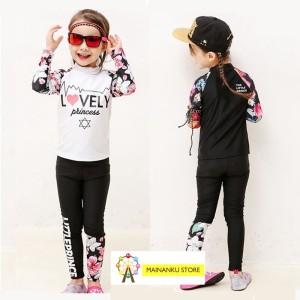 Harga mainanku baju renang korea lengan panjang baju renang anak perempuan   putih   HARGALOKA.COM