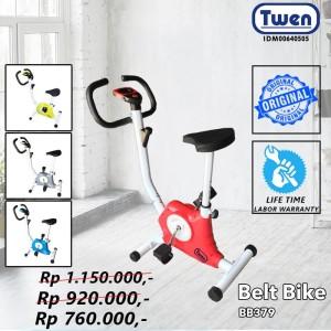 Harga sepeda statis excercise bike belt twen bb379   sepeda fitness   | HARGALOKA.COM