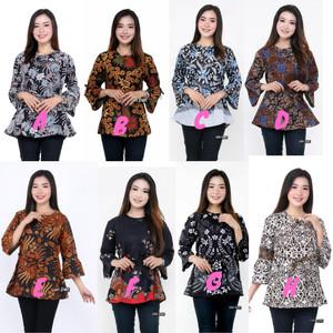 Harga atasan blouse batik wanita modern asli batik pekalongan batik murah   | HARGALOKA.COM