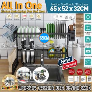 Harga rak pengering piring   rak serbaguna   sink wastafel drain rack | HARGALOKA.COM