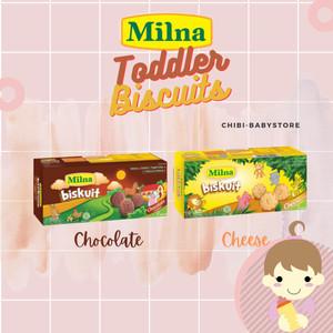 Harga milna toddler biskuit 110gr cokelat keju cemilan bayi biskuit baby   | HARGALOKA.COM