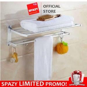 Katalog Rak Gantungan Handuk Aluminium Dinding Kamar Mandi Towel Hanger Katalog.or.id