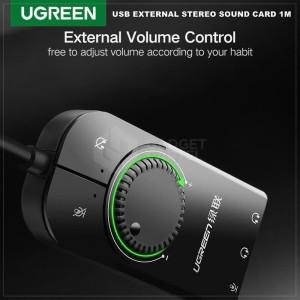 Harga ugreen 50599 usb soundcard eksternal sound card external audio | HARGALOKA.COM