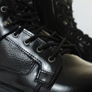 Harga sepatu boot pdl pdh militer model jatah tni bahan sepatu kulit asli   hitam | HARGALOKA.COM