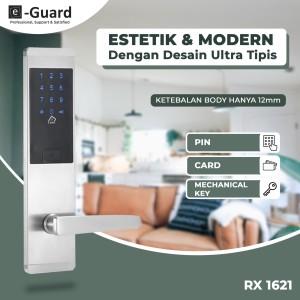 Harga kunci pintu digital modern slim e guard pin amp kartu rx1621 digital | HARGALOKA.COM