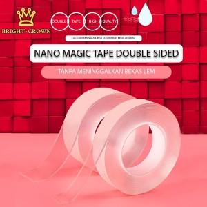 Harga magic tape nano double tape super tape isolasi bening super kuat   1m tebal | HARGALOKA.COM