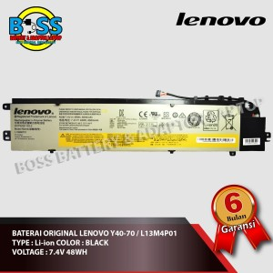 Harga baterai original lenovo y40 70 l13m4p01 7 4v | HARGALOKA.COM