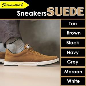 Harga libra sepatu sneakers pria casual suede premium ukuran 39 40 41 42 43   tan | HARGALOKA.COM