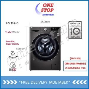 Harga lg fv1450s1b mesin cuci front loading thinq dengan wifi 10 | HARGALOKA.COM
