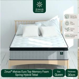 Harga zinus matras 30cm euro top memory foam spring hybrid   ukuran | HARGALOKA.COM